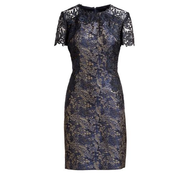 bc168a0578b3 Elie Tahari Dresses | Galina Metallic Jacquard Shift Dress | Poshmark